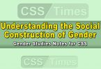 Understanding the Social Construction of Gender