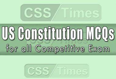 United States Constitution MCQs