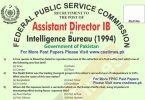 Assistant Director Intelligence Bureau Past Paper 1994 (FPSC Past Papers)