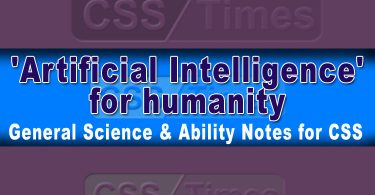 Artificial Intelligence for Humanity International Relations Notes for CSS-PMS
