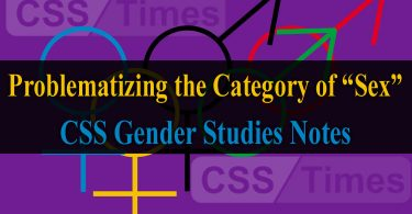 "Problematizing the Category of ""Sex"" Queer Theory 