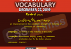 Daily English Vocabulary with Urdu Meaning (27 December 2019)