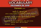 Daily English Vocabulary with Urdu Meaning (28 December 2019)