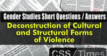 Gender Studies Short Q/A