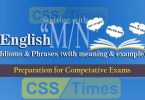"English Grammar: Idioms And Phrases (""Set-M/N"") 