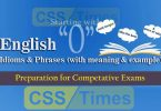 "English Grammar: Idioms And Phrases (""Set-O"") 