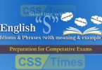 "English Grammar: Idioms And Phrases (""Set-S"") 