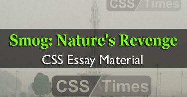 Smog: Nature's Revenge | CSS Essay