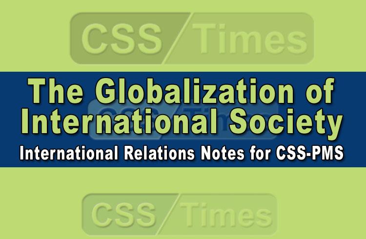 The Globalization of International Society