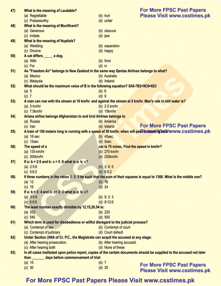 Assistant Director NAB Past Paper 2012 (NTS Solved Past Papers)