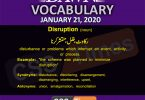 Daily English Vocabulary with Urdu Meaning (21 January 2020)