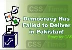 Essay for CSS Democracy