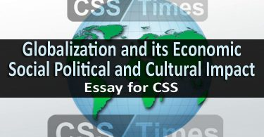 Globalization and its Economic Social Political and Cultural Impact