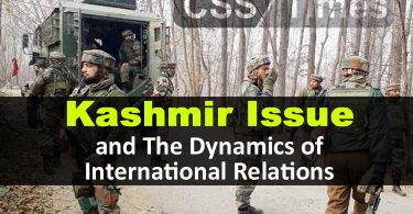 Kashmir Issue and The Dynamics of International Relations