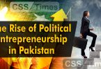 The Rise of Political Entrepreneurship in Pakistan