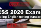 CSS 2020 Exams | Falling English testing standards