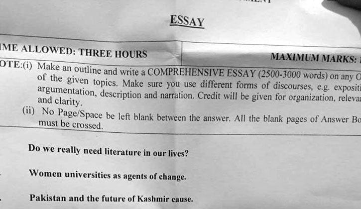 CSS English Essays Paper 2020 FPSC CSS Past Papers 2020