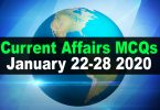 Current Affairs MCQs January 22-28 2020 (Week 4)