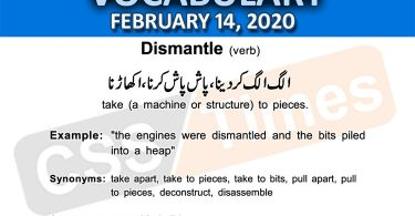 Daily DAWN News Vocabulary with Urdu Meaning (14 February 2020)