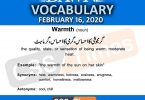 Daily DAWN News Vocabulary with Urdu Meaning (16 February 2020)
