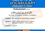 Daily DAWN News Vocabulary with Urdu Meaning (17 February 2020)