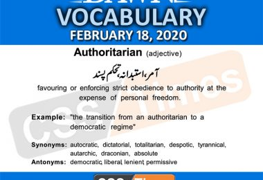 Daily DAWN News Vocabulary with Urdu Meaning (18 February 2020)