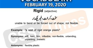 Daily DAWN News Vocabulary with Urdu Meaning (19 February 2020)