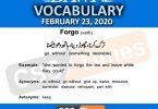Daily DAWN News Vocabulary with Urdu Meaning (23 February 2020)