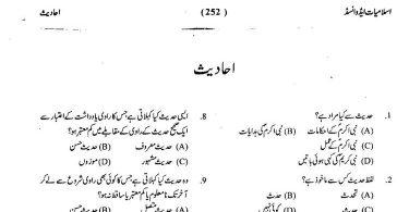 Islamic MCQs about Ahadees