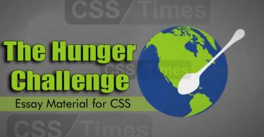 The Hunger Challenge - CSS Essay Material
