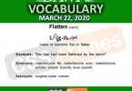 Daily DAWN News Vocabulary with Urdu Meaning (22 March 2020)