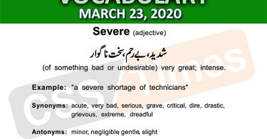 Daily DAWN News Vocabulary with Urdu Meaning (23 March 2020)