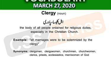 Daily DAWN News Vocabulary with Urdu Meaning (27 March 2020)