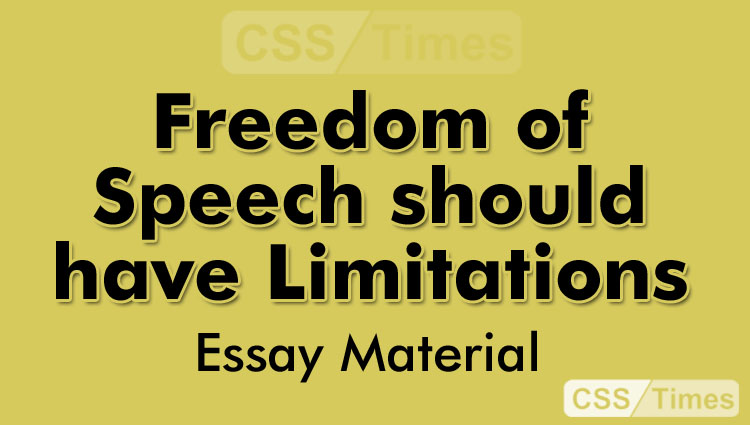 free speech should have limitations essay