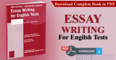 Essay Writing for English Tests | Download Complete Book in PDF