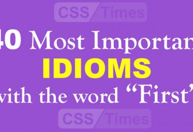 "40 Most Important IDIOMS with the word ""First"""
