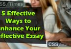 5 Effective Ways to Enhance Your Reflective Essay