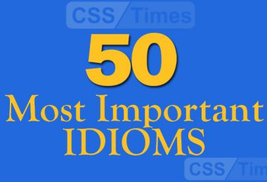 50 Most Important Idioms