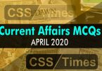 Current Affairs MCQs | National/International (April 2020)