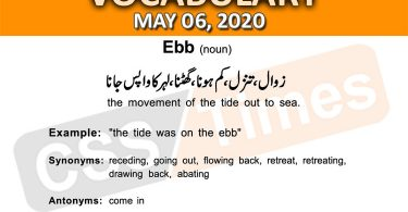 Daily DAWN News Vocabulary with Urdu Meaning (06 May 2020)