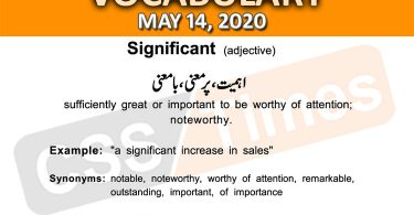 Daily DAWN News Vocabulary with Urdu Meaning (14 May 2020)