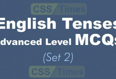 English Tenses Advanced Level MCQs (Set 2)