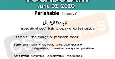 Daily DAWN News Vocabulary with Urdu Meaning (02 June 2020)