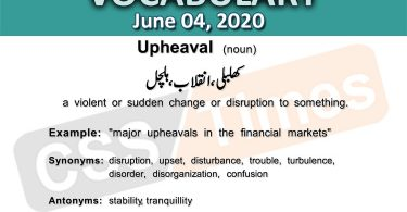 Daily DAWN News Vocabulary with Urdu Meaning (04 June 2020)