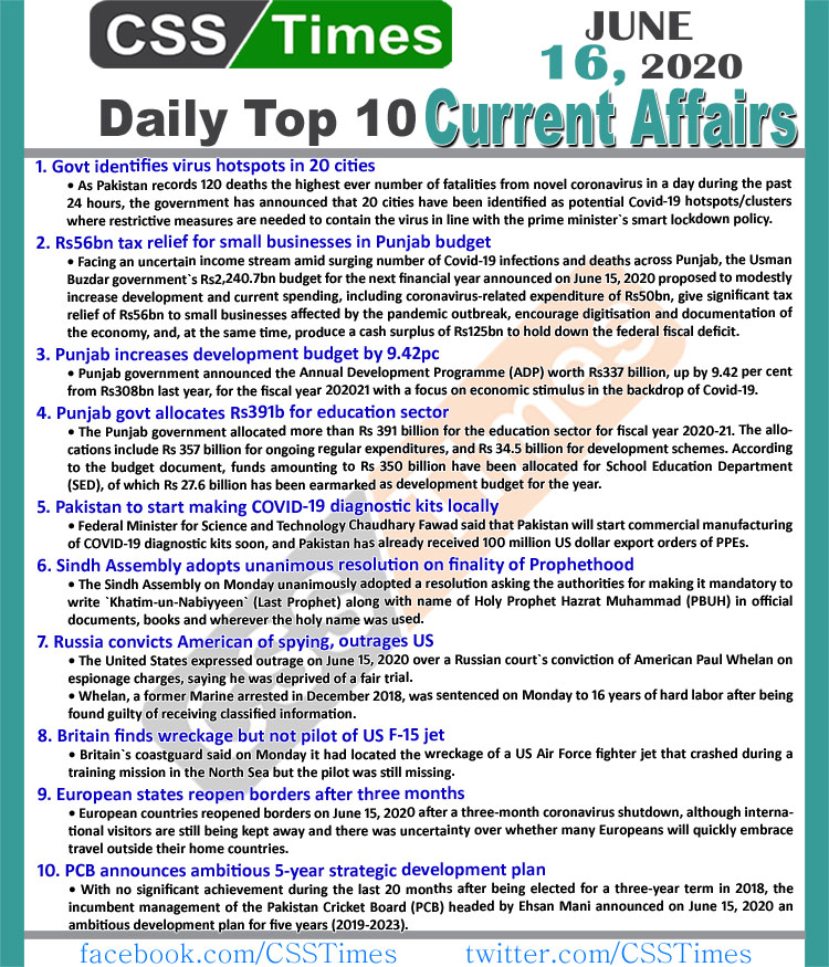 """Check our daily updated 's Complete Day by Day Current Affairs Notes May 2020: <ul class=""""lcp_catlist"""" id=""""lcp_instance_0""""><li><a href=""""https://www.csstimes.pk/current-affairs-mcqs-aug-2-2021/"""" title=""""Daily Top-10 Current Affairs MCQs / News (August 02, 2021) for CSS, PMS"""">Daily Top-10 Current Affairs MCQs / News (August 02, 2021) for CSS, PMS</a></li><li><a href=""""https://www.csstimes.pk/dawn-news-vocabulary-1-aug-2021/"""" title=""""Daily DAWN News Vocabulary with Urdu Meaning (01 August 2021)"""">Daily DAWN News Vocabulary with Urdu Meaning (01 August 2021)</a></li><li><a href=""""https://www.csstimes.pk/current-affairs-mcqs-aug-1-2021/"""" title=""""Daily Top-10 Current Affairs MCQs / News (August 01, 2021) for CSS, PMS"""">Daily Top-10 Current Affairs MCQs / News (August 01, 2021) for CSS, PMS</a></li><li><a href=""""https://www.csstimes.pk/dawn-news-vocabulary-31-july-2021/"""" title=""""Daily DAWN News Vocabulary with Urdu Meaning (31 July 2021)"""">Daily DAWN News Vocabulary with Urdu Meaning (31 July 2021)</a></li><li><a href=""""https://www.csstimes.pk/dawn-news-vocabulary-30-july-2021/"""" title=""""Daily DAWN News Vocabulary with Urdu Meaning (30 July 2021)"""">Daily DAWN News Vocabulary with Urdu Meaning (30 July 2021)</a></li><li><a href=""""https://www.csstimes.pk/current-affairs-mcqs-july-31-2021/"""" title=""""Daily Top-10 Current Affairs MCQs / News (July 31, 2021) for CSS, PMS"""">Daily Top-10 Current Affairs MCQs / News (July 31, 2021) for CSS, PMS</a></li><li><a href=""""https://www.csstimes.pk/dawn-news-vocabulary-29-july-2021/"""" title=""""Daily DAWN News Vocabulary with Urdu Meaning (29 July 2021)"""">Daily DAWN News Vocabulary with Urdu Meaning (29 July 2021)</a></li><li><a href=""""https://www.csstimes.pk/dawn-news-vocabulary-28-july-2021/"""" title=""""Daily DAWN News Vocabulary with Urdu Meaning (28 July 2021)"""">Daily DAWN News Vocabulary with Urdu Meaning (28 July 2021)</a></li><li><a href=""""https://www.csstimes.pk/modern-wars-not-holy-wars-complete-essay/"""" title=""""Are Modern Wars Not Holy Wars? (Complete Essay)"""">Are"""