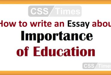 How to write an Essay about the Importance of Education