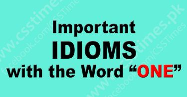 "Important IDIOMS with the Word ""ONE"" 