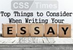 Top Things to Consider When Writing Your Essay