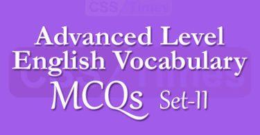 Advanced Level English Vocabulary MCQs (Set-II)