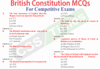 British Constitution MCQs for Competitive Exams